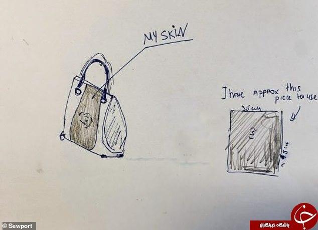 کیف دستی ای که از پوست بدن صاحبش درست شد