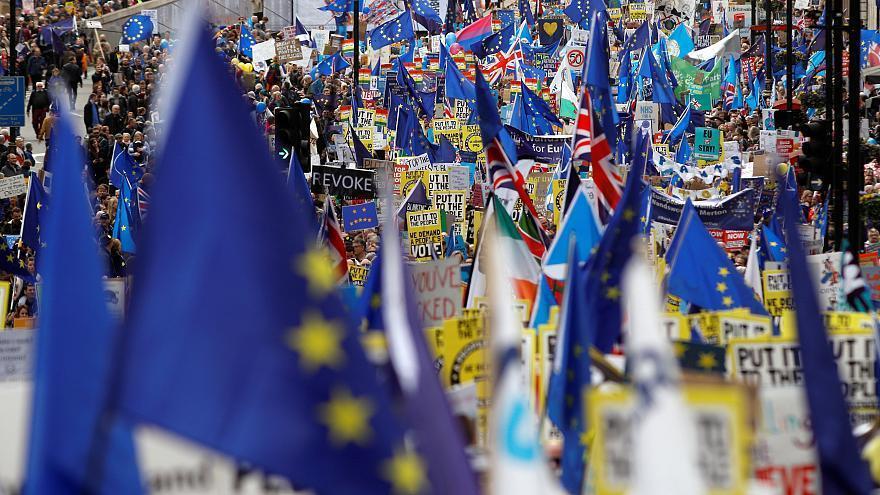 تظاهرات بریتانیایی ها برای رفراندوم جدید و ماندن در اتحادیه اروپا