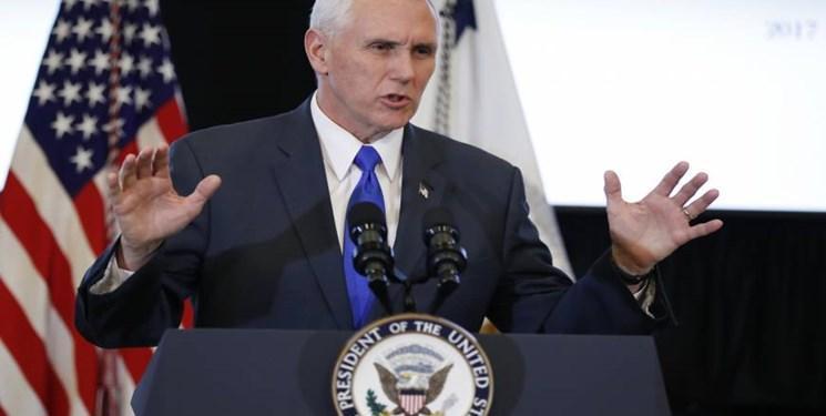 معترضان آمریکایی جلسه سخنرانی معاون ترامپ را ترک کردند