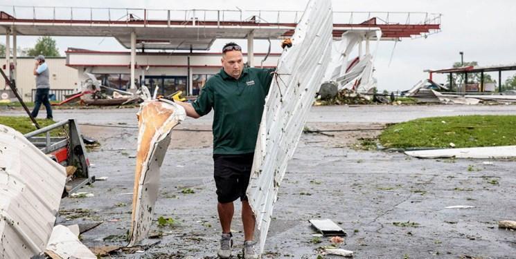 جدیدترین آمار خسارات طوفان در میسوری آمریکا