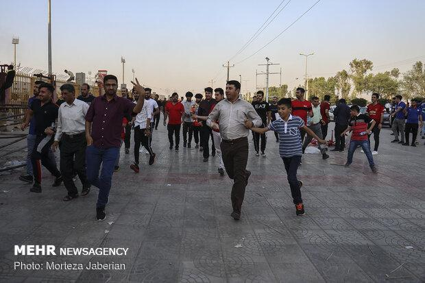 22 مصدوم و 4 نفر اعزام به مراکز درمانی در حادثه استادیوم خوزستان