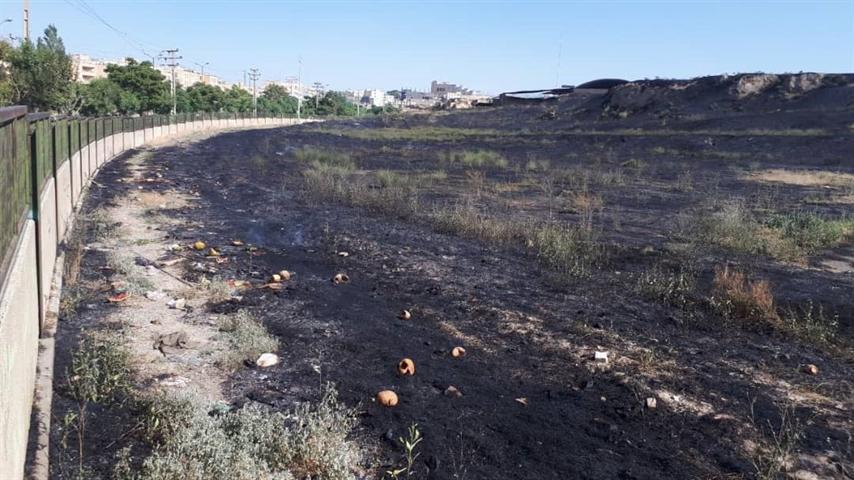آتش سوزی آسیبی به محوطه تاریخی تپه هگمتانه وارد نکرده است ، برنامه ریزی برای برطرف دائمی مشکل حریق علف های هرز