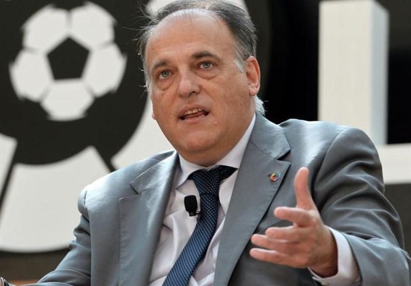 رئیس لالیگا خاطرنشان کرد؛ امکان لغو مجوز بازی گریزمان در بارسلونا
