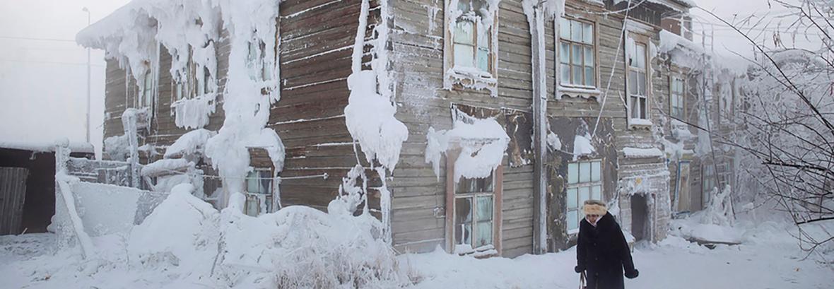 تصاویر سردترین شهر دنیا │ اینجا سه ماه دما 40 درجه زیر صفر است!