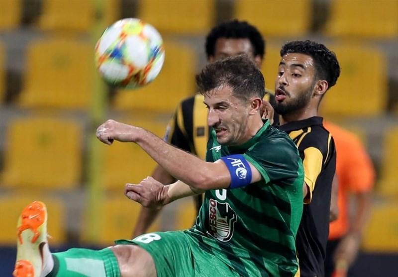 لیگ قهرمانان آسیا، رجحان الاتحاد عربستان مقابل ذوب آهن در نیمه اول
