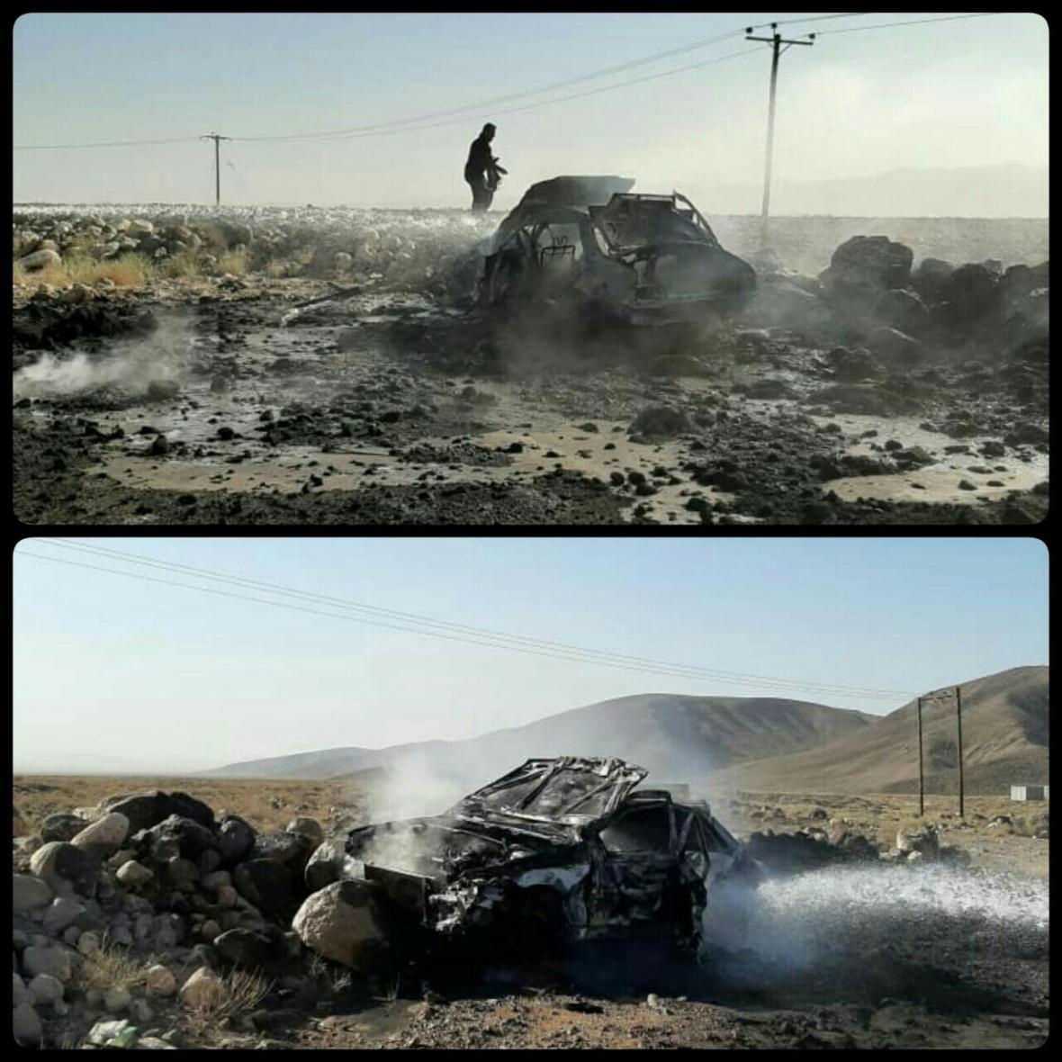 قاچاق سوخت باز هم قربانی گرفت، یک نفر در شعله های آتش سوخت