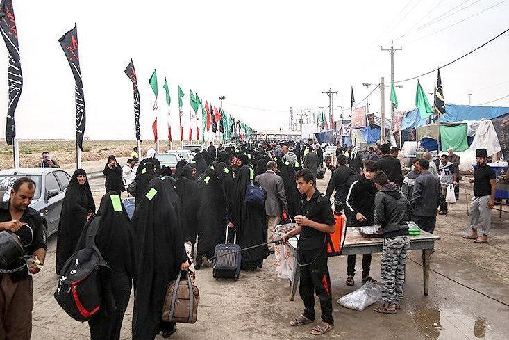 افزایش لحظه به لحظه تردد زائران در مرز مهران
