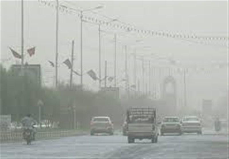 وقوع پدیده گرد و خاک در مهران