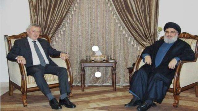 دیدار سید حسن نصرالله با معاون سیاسی دبیرکل حزب الله لبنان
