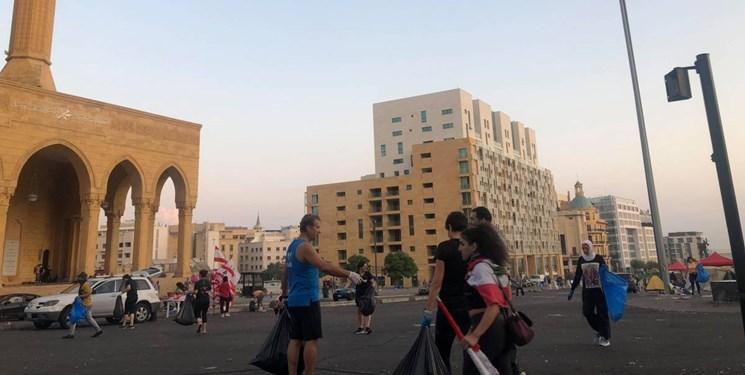 عکس، صبح متفاوت بیروت پس از سه روز تظاهرات