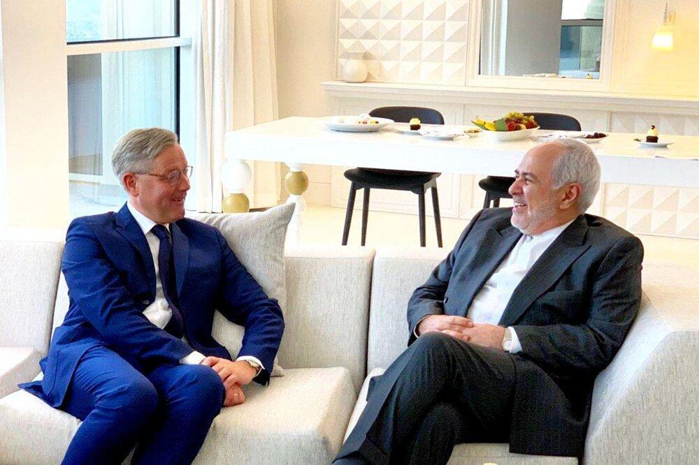 ظریف با یک مقام آلمانی دیدار کرد
