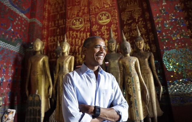 دیدار اوباما با یک بازمانده بمباران های آمریکا در لائوس