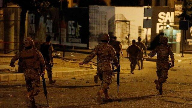نمایش خشونت بیشتر در لبنان، زن و شوهر زنده در آتش سوختند