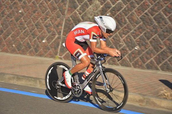 بیست و سومی گنج خانلو در مسابقات دوچرخه سواری قهرمانی دنیا، رجبی به خط خاتمه نرسید