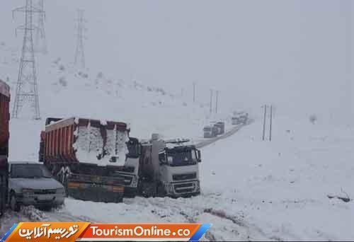 جاده های 13 استاان درگیر برف و باران؛ محدودیت ترافیکی در هراز