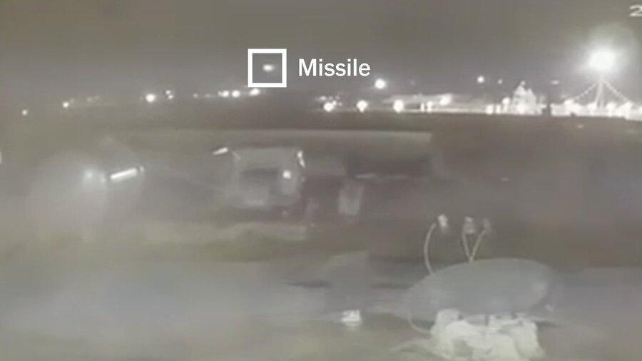 فیلم، ویدئوی منتشر شده نیویورک تایمز شلیک دو موشک را نشان می دهد