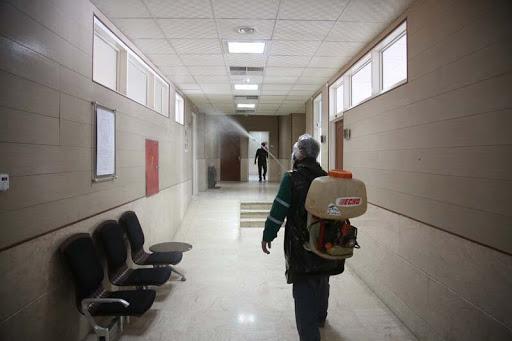 ساختمان های سازمان مدیریت پسماند برای مقابله با ویروس کرونا ضدعفونی می شوند