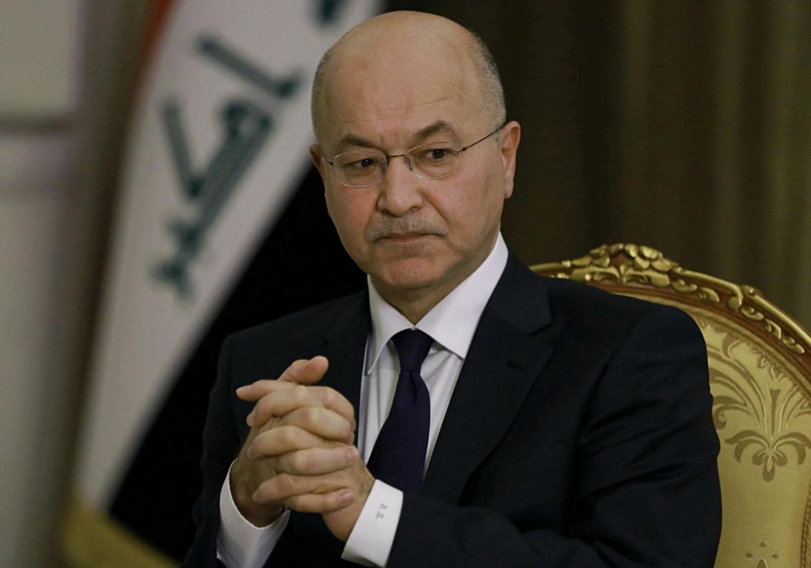 نمایندگان معترضان عراقی با برهم صالح ملاقات کردند