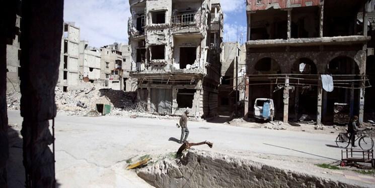 کشف یگ گور جمعی در دوما در شرق دمشق