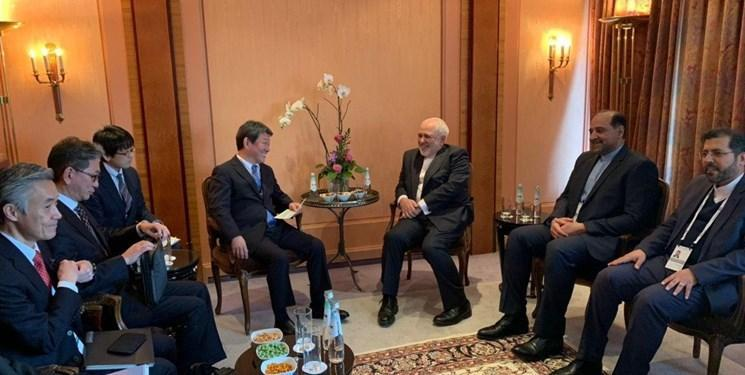 ملاقات ظریف با وزرای خارجه ژاپن و اسپانیا و رئیس گروه مردم در مجلس اروپا در مونیخ؛ محور گفت و گوها، اوضاع غرب آسیا
