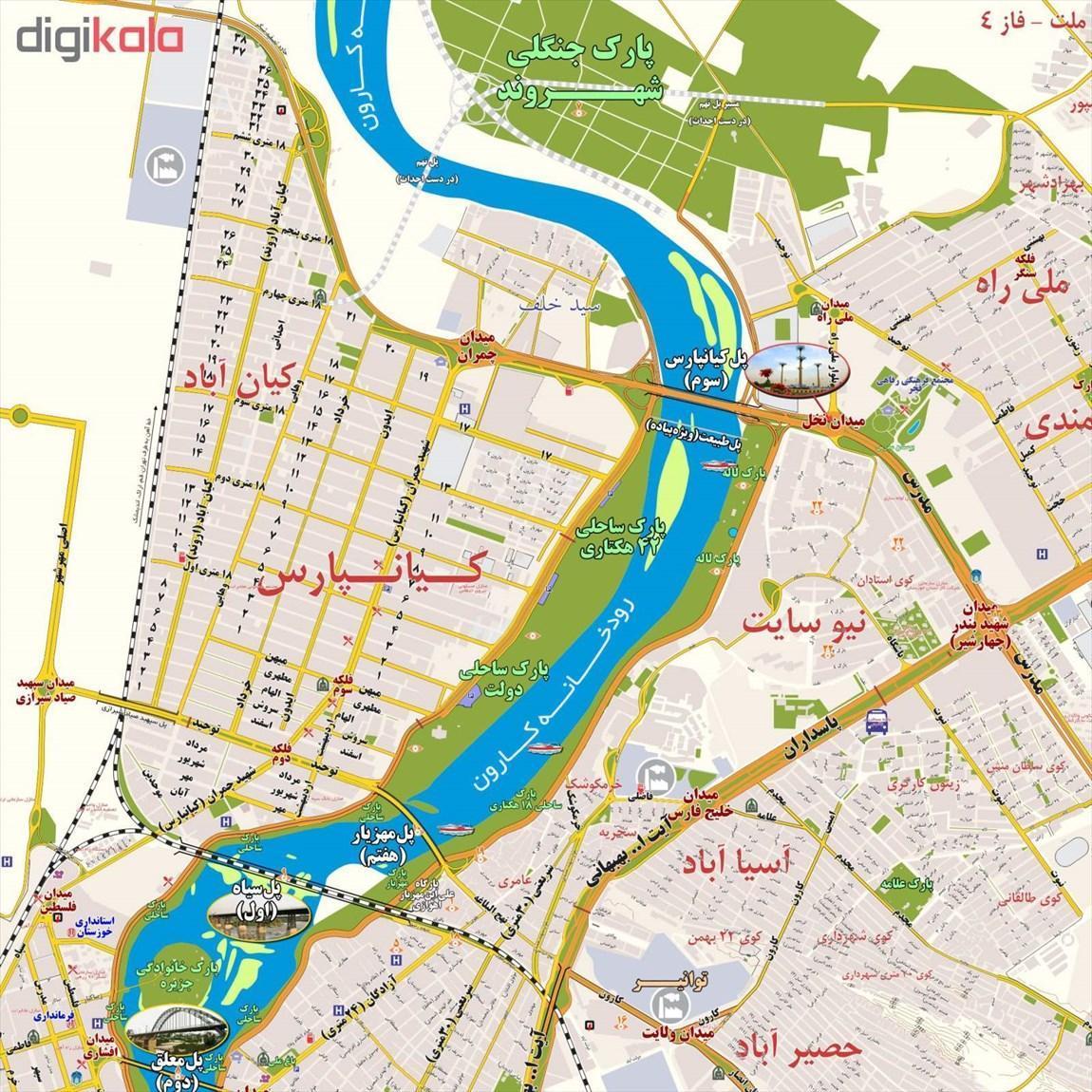 تاریخچه و نقشه جامع شهر اهواز در ویکی خبرنگاران
