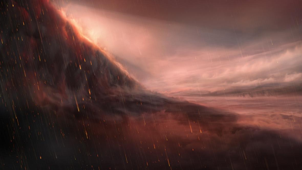 سیاره ای که شب ها روی آن آهن مذاب می بارد