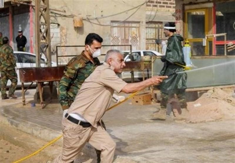 کرونا، خدمت حشد شعبی به مردم عراق در جبهه سلامت همزمان با مقاومت