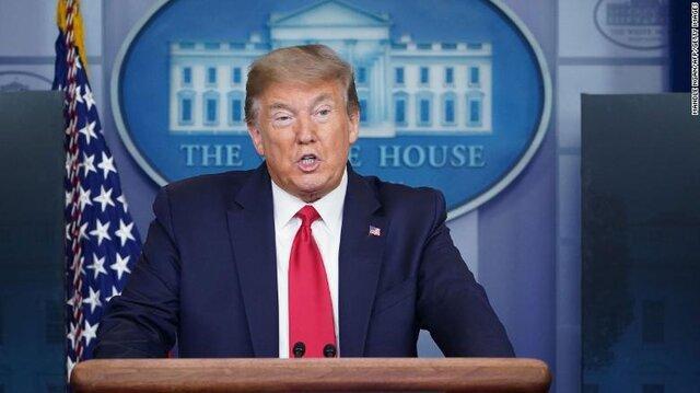 ترامپ از قدرت خود برای قرنطینه سخن گفت
