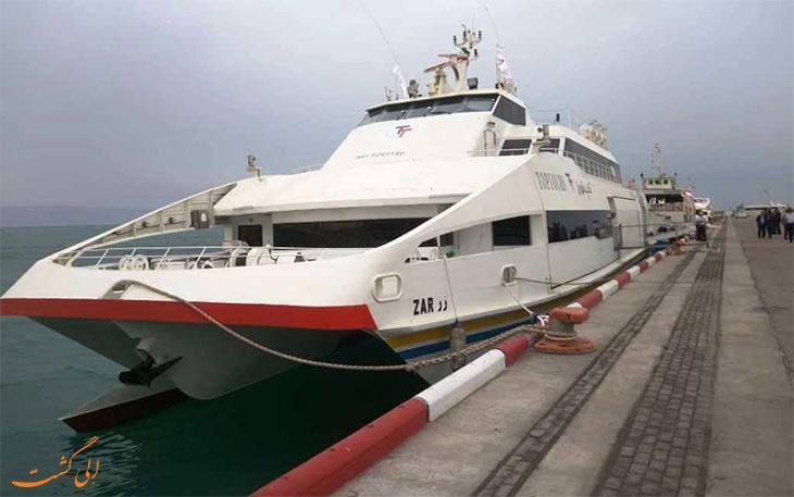 اولین کشتی پیشرفته گردشگری ایرانی در کیش به آب انداخته شد