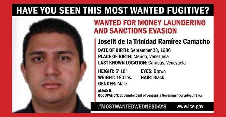 خبرنگاران آمریکا برای دستگیری یک مقام ونزوئلا 5 میلیون دلار جایزه مشخص کرد