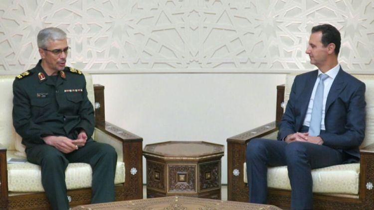 ملاقات سرلشکر باقری با بشار اسد
