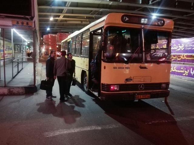 راه اندازی خطوط شبانه اتوبوسرانی تهران در 9 خط