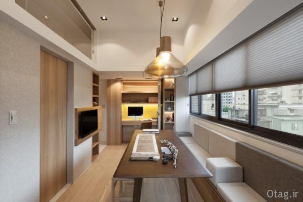 بهترین نوع معماری کمینه ایی در دکوراسیون خانه کوچک 26 متری