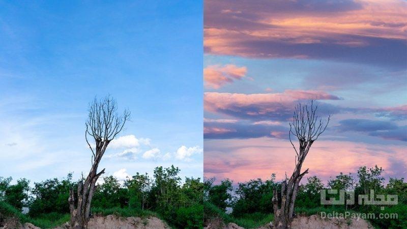 تغییر آسمان در تصاویر با هوش مصنوعی فوتوشاپ