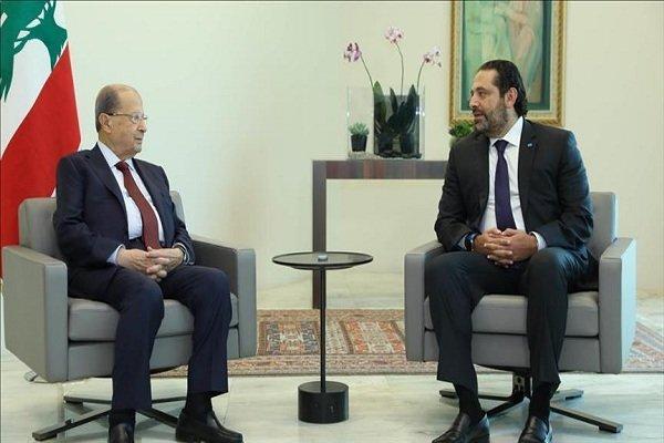 رایزنی میشل عون و سعد الحریری درباره تشکیل دولت جدید لبنان