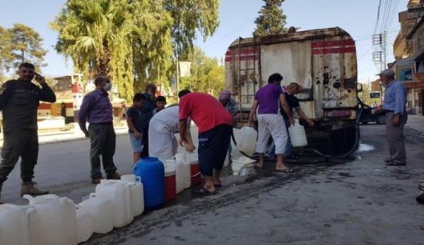قطع آب آشامیدنی یک میلیون سوری توسط ترکیه