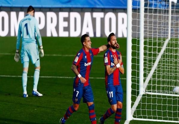 لالیگا، شکست خانگی رئال مادرید مقابل لوانته، ناکامی شاگردان زیدان در کاهش فاصله با صدر