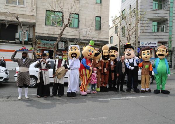 اجرای کاروان های شاد نوروزی بهار 1400 در مرکز پایتخت شروع شد