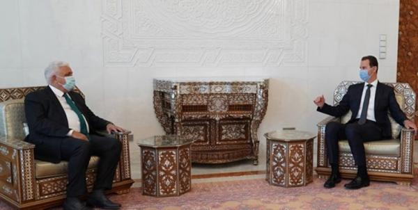 دیدار رئیس الحشد الشعبی با بشار اسد و گفت وگو درباره مبارزه با تروریسم